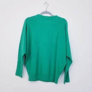 GALLERY Mock Neck Dolman Knit Sweater Top